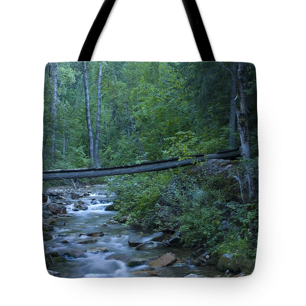 Creek Tote Bag featuring the photograph Big Creek Bridge by Idaho Scenic Images Linda Lantzy