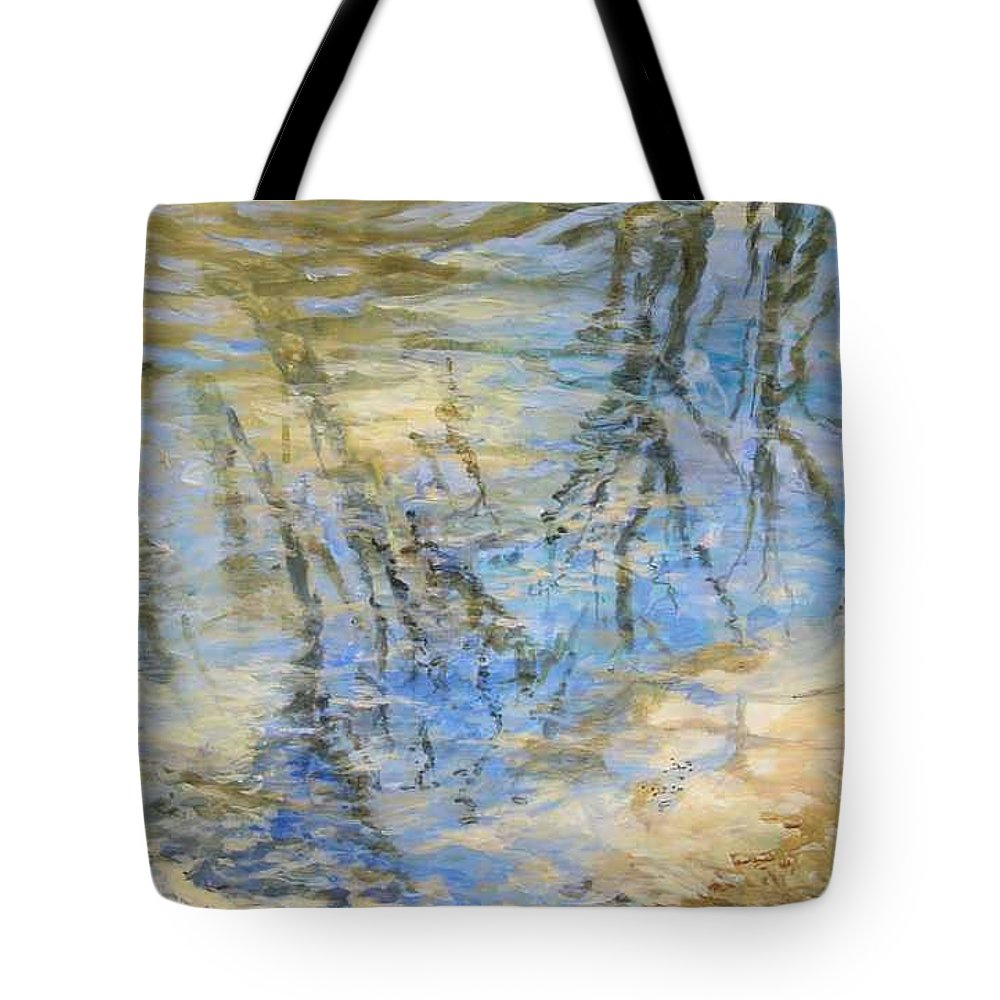 Water Tote Bag featuring the painting Big Creek by Denise Ivey Telep