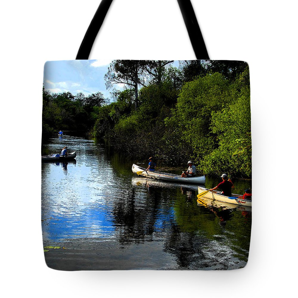 Big Cypress National Preserve Florida Tote Bag featuring the painting Big Cypress Outing by David Lee Thompson
