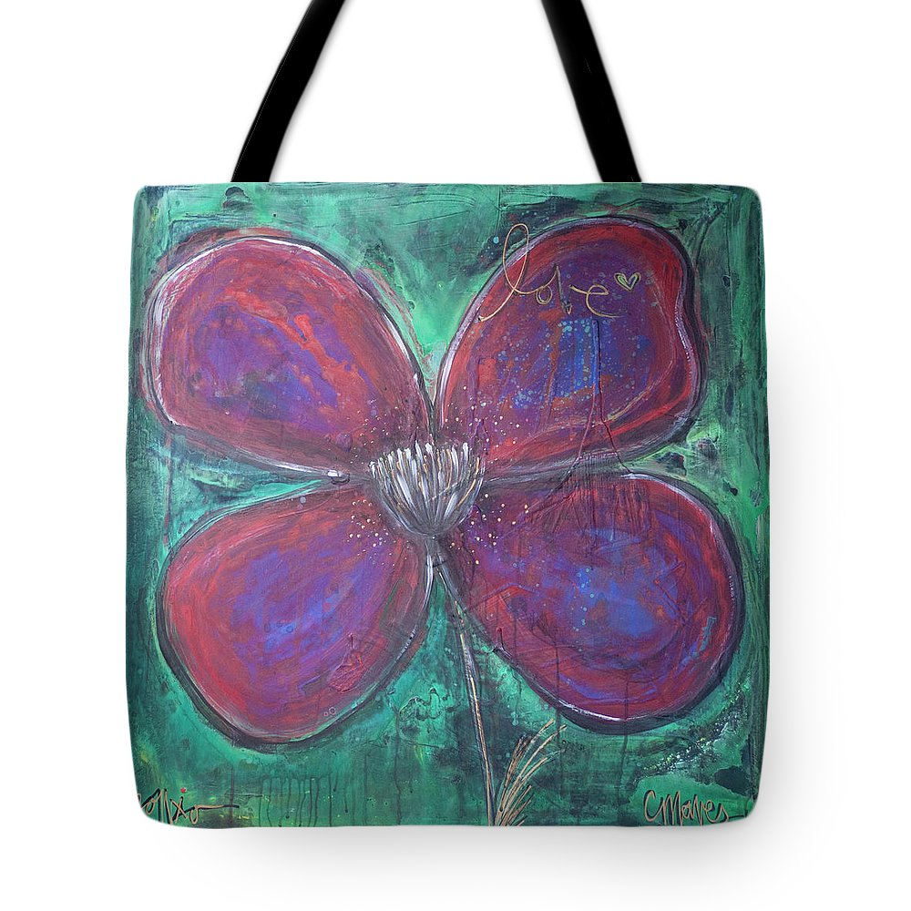 Poppy Tote Bag featuring the painting Big Love Poppy by Laurie Maves ART