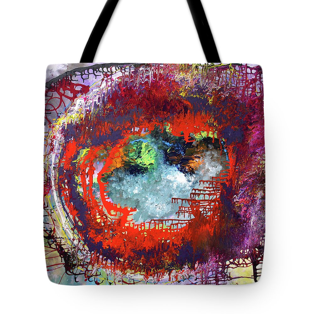Fusionart Tote Bag featuring the painting Big Optic by Ralph White