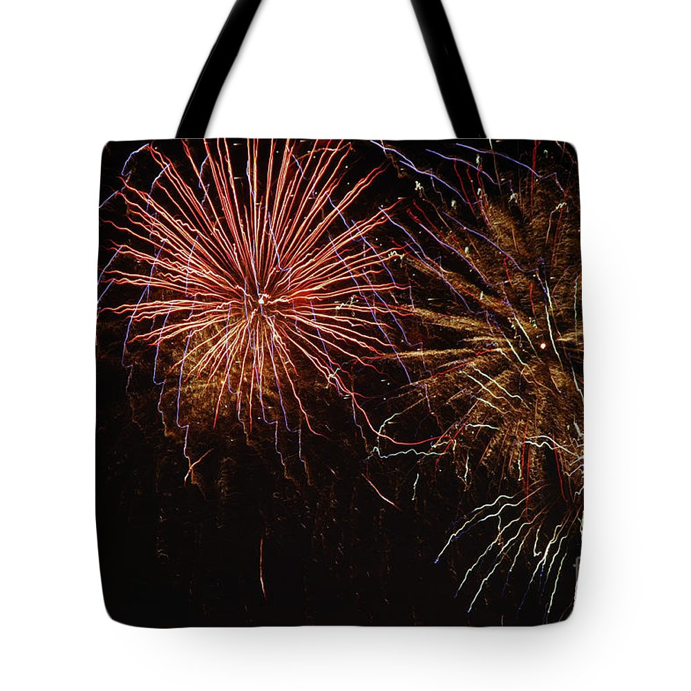 Fireworks Tote Bag featuring the photograph Big Purst by Norman Andrus