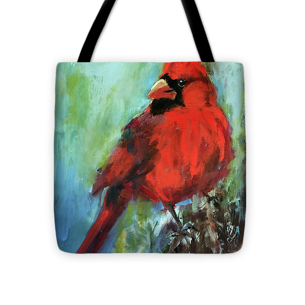 Large Porch Painting Tote Bag featuring the painting Big Red by Marcia Hodges