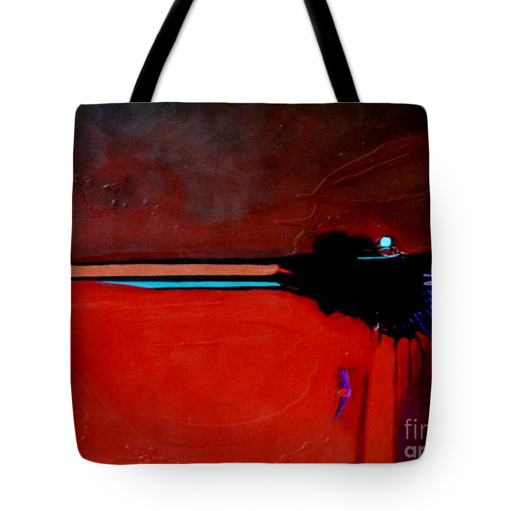 Red Tote Bag featuring the painting Big Red by Marlene Burns