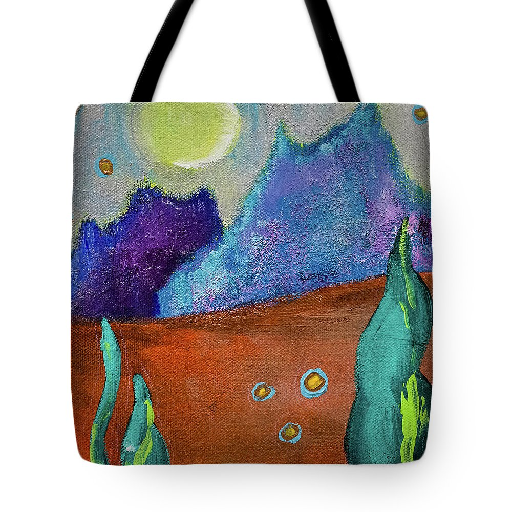 Acrylic Tote Bag featuring the painting Big Rock Candy Mountain by Stephanie Berry