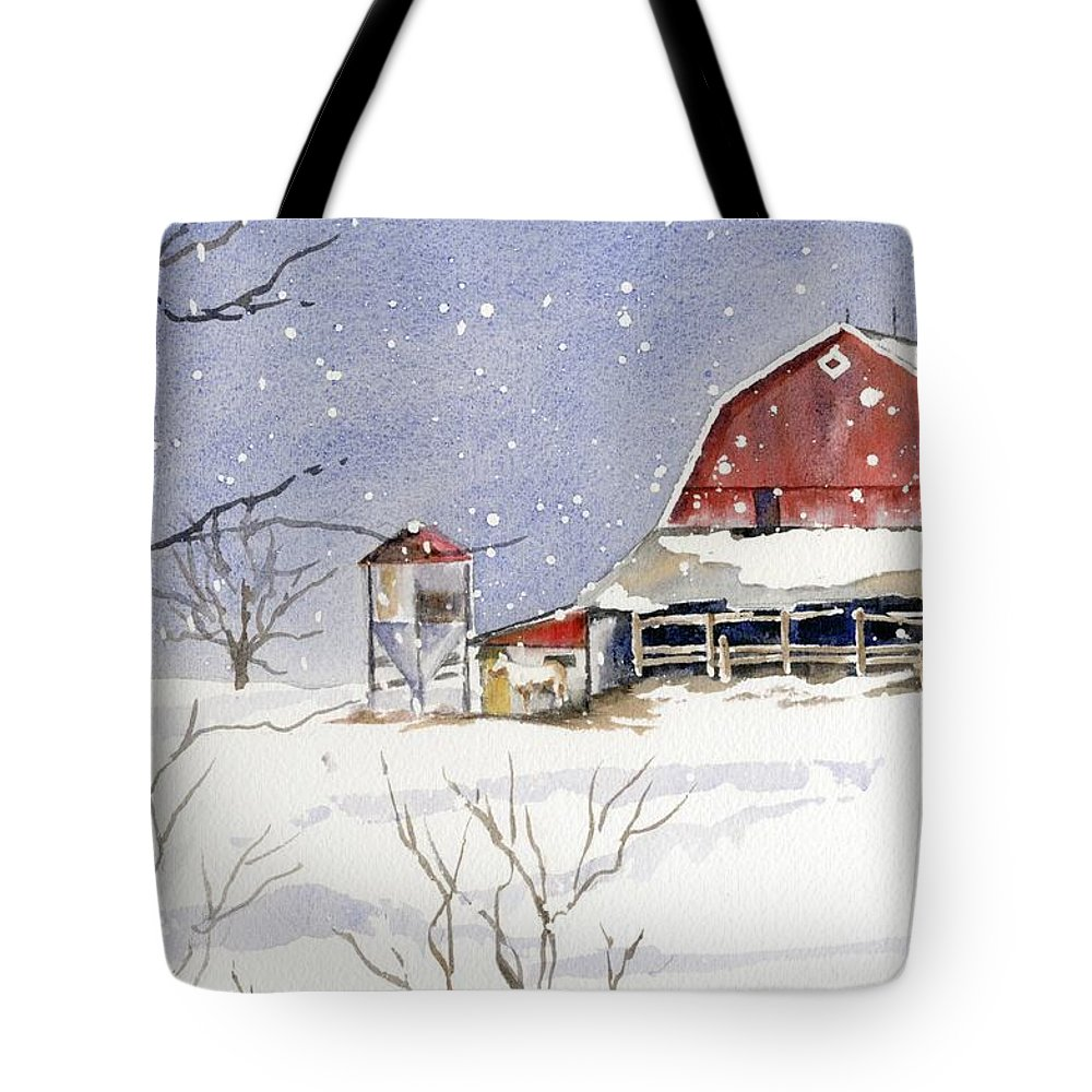 Horse Tote Bag featuring the painting Big White Horse by Marsha Elliott