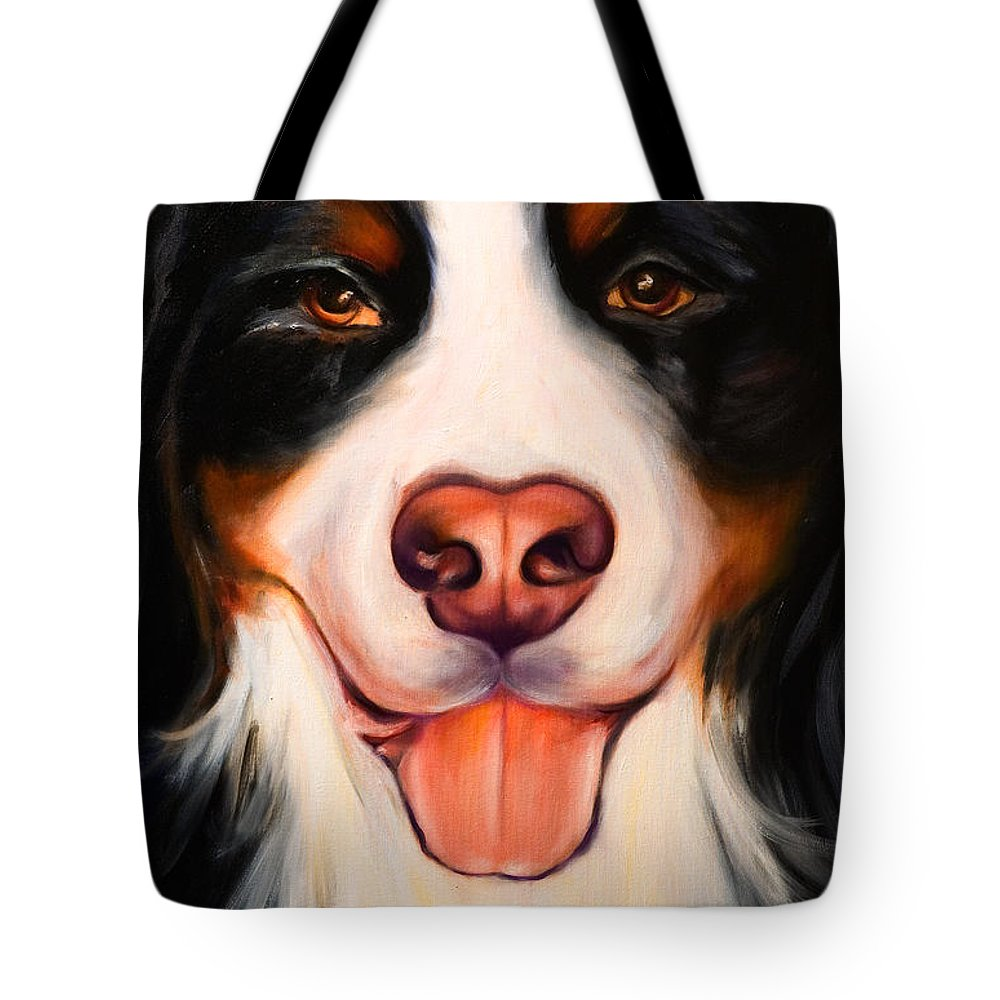Dog Tote Bag featuring the painting Big Willie by Shannon Grissom