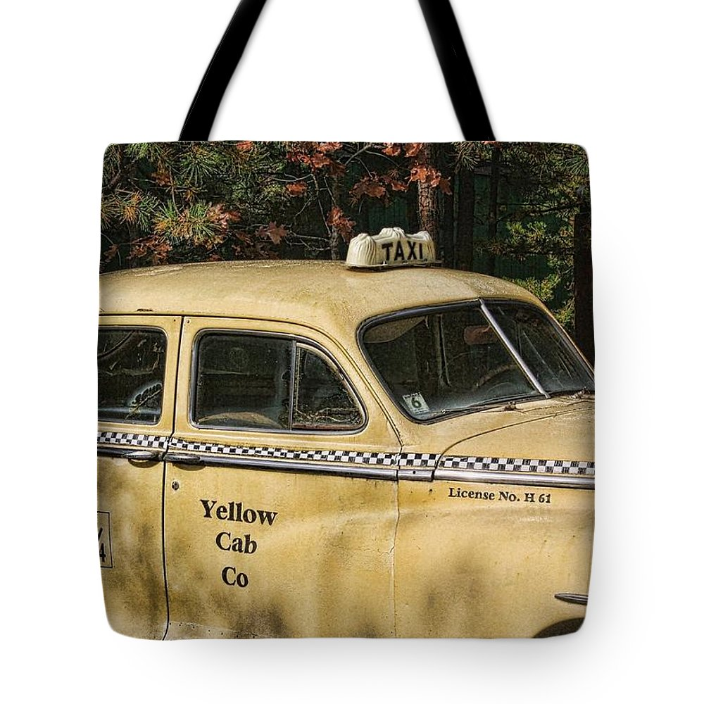 Taxi Tote Bag featuring the photograph Big Yellow Taxi by Kevin Sherf