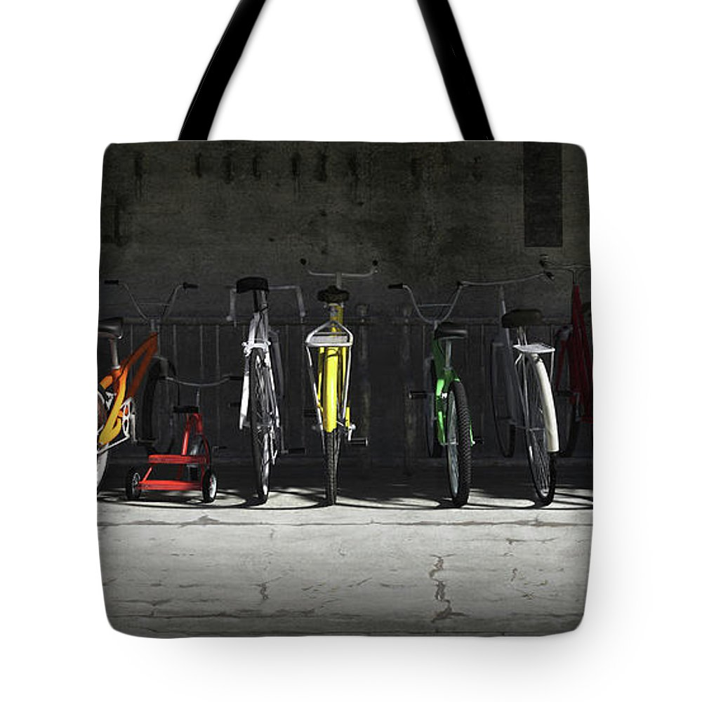 Fitness Digital Art Tote Bags