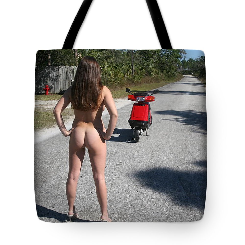 Photographer Lucky Cole Everglades City Glamour  Everglades City Beauty Everglades City Fl.photographer Lucky Cole  Angels Sexy Exotic Natural Beauty Glamorous Environmental Portraits Female Natural Settings  Exotic Beauty Wildlife  Everglades City Florida  Naples Florida Professional Photographer Lucky Cole Loop Road Chokoloskee Island Florida Professional Photography Tote Bag featuring the photograph Biker Chick 115 by Lucky Cole