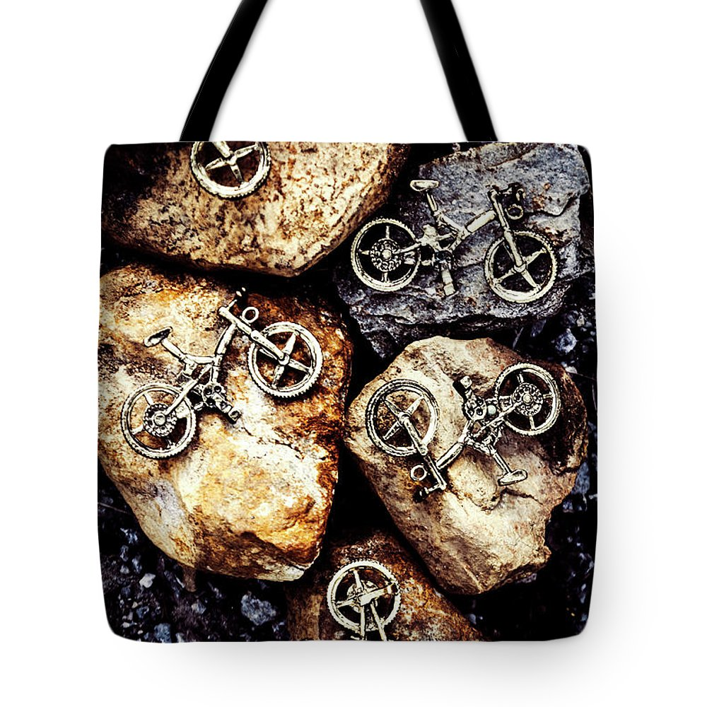Cyclist Photographs Tote Bags