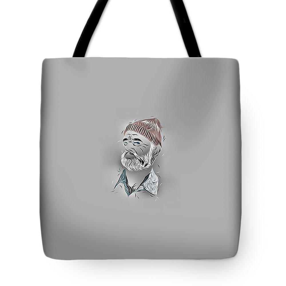 Bill Murray Tote Bag featuring the digital art Bill Murray by Lora Battle