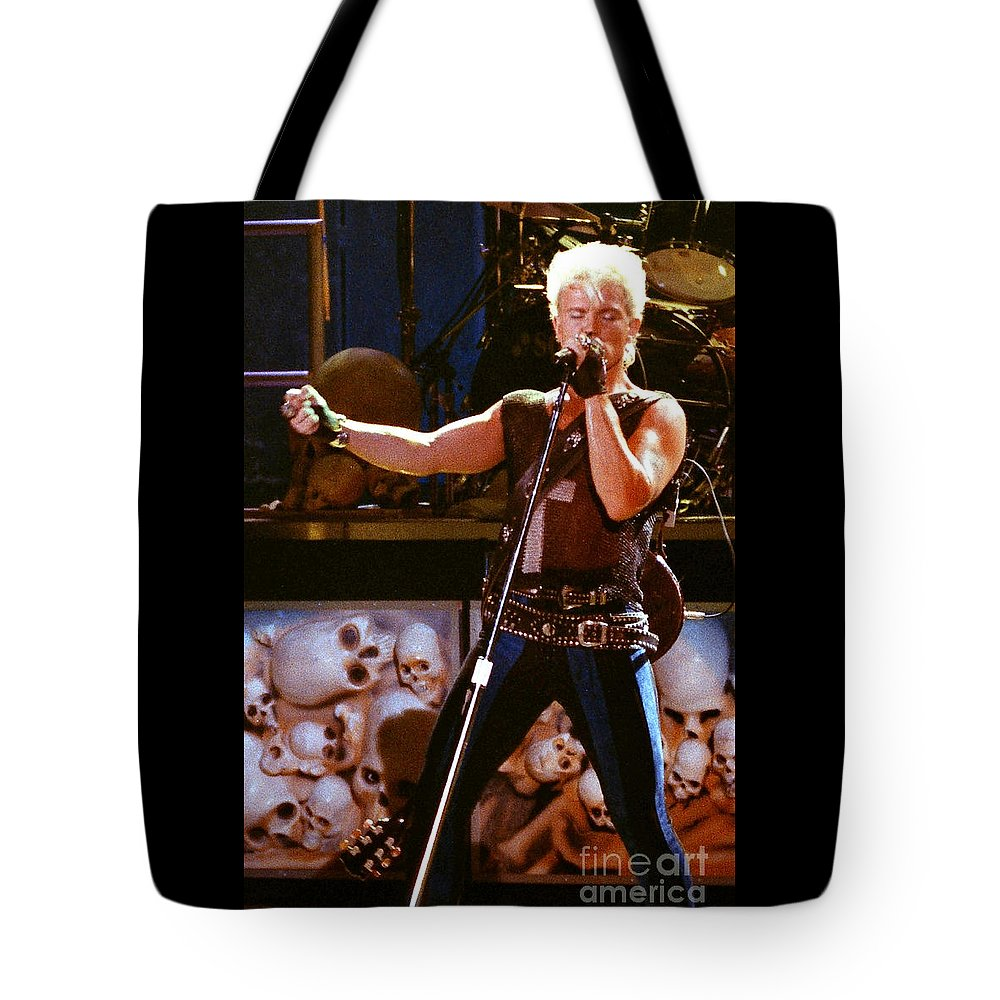 Billy Idol Tote Bag featuring the photograph Billy Idol 90-2266 by Gary Gingrich Galleries