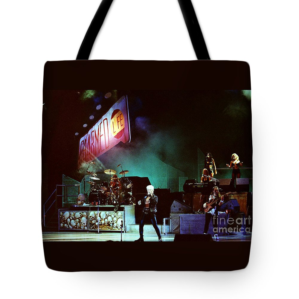Billy Idol Tote Bag featuring the photograph Billy Idol 90-2271 by Gary Gingrich Galleries