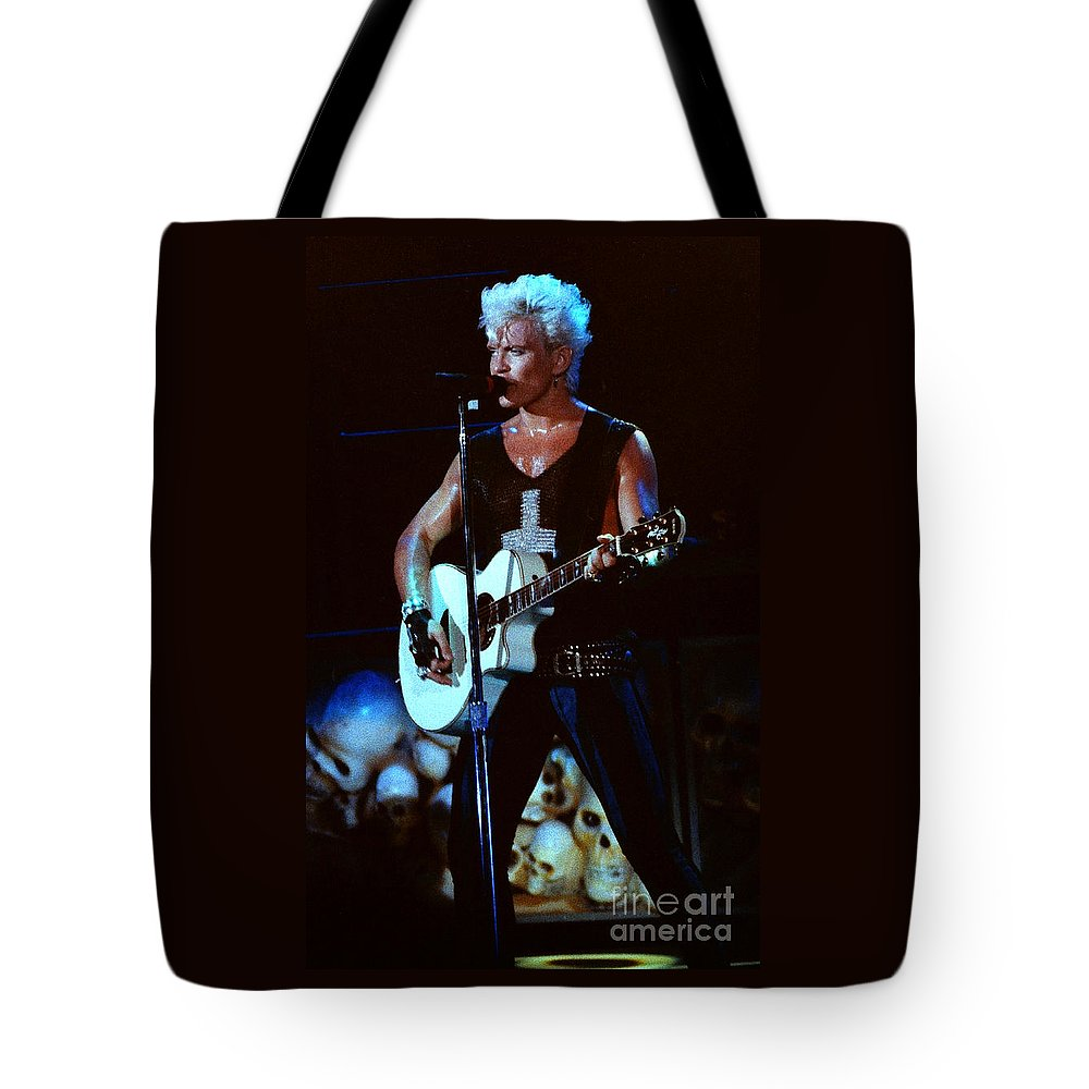 Billy Idol Tote Bag featuring the photograph Billy Idol 90-2302 by Gary Gingrich Galleries