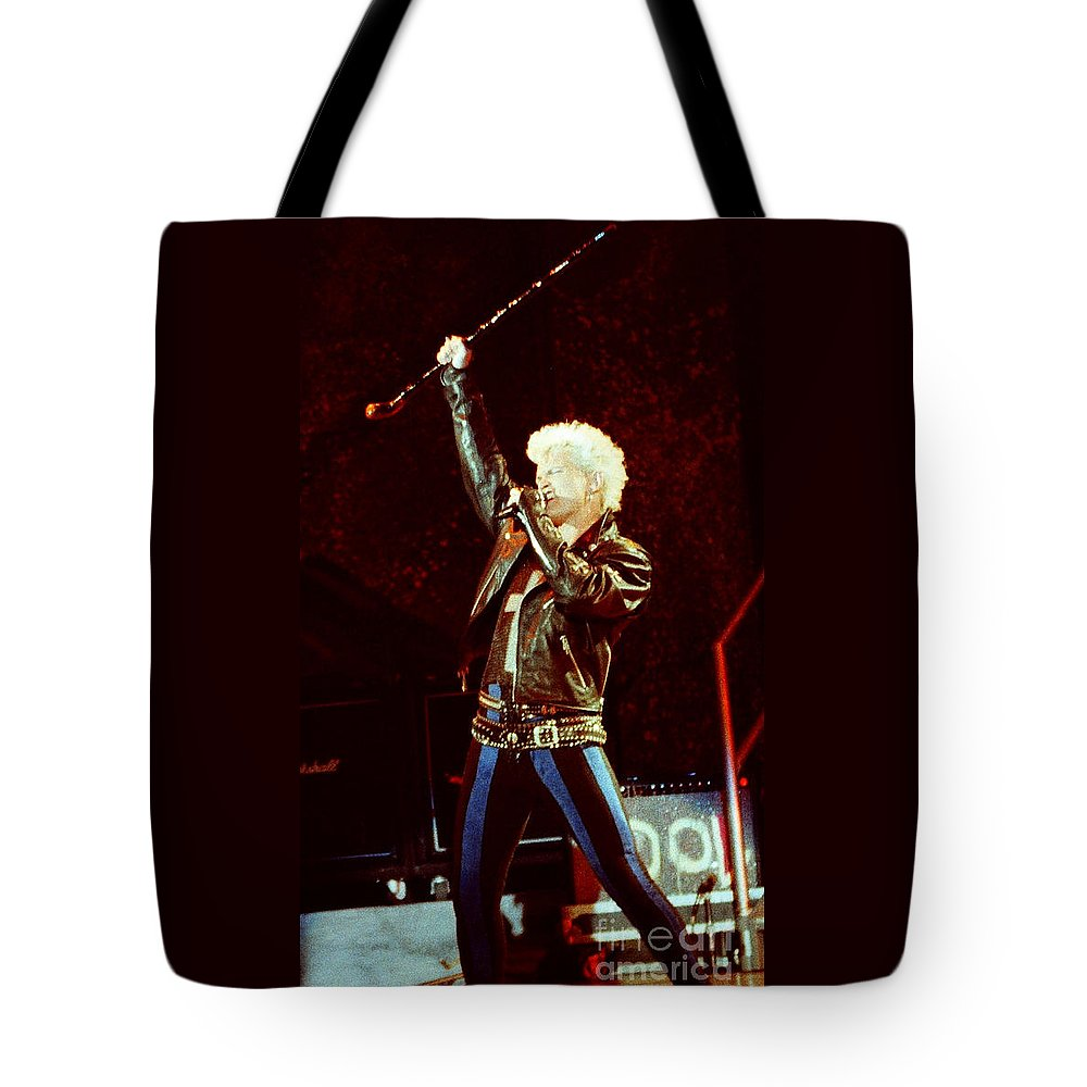 Billy Idol Tote Bag featuring the photograph Billy Idol 90-2307 by Gary Gingrich Galleries