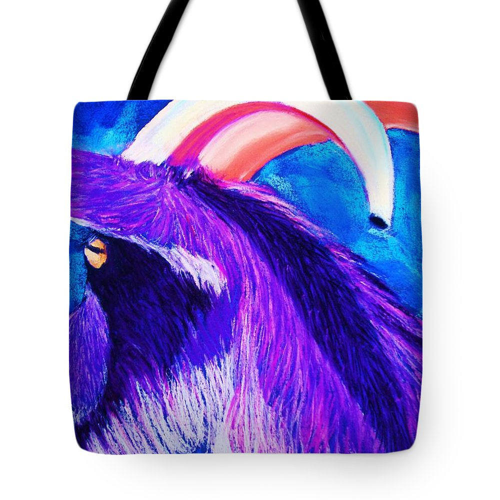 Goat Tote Bag featuring the pastel Billy The Kid by Melinda Etzold