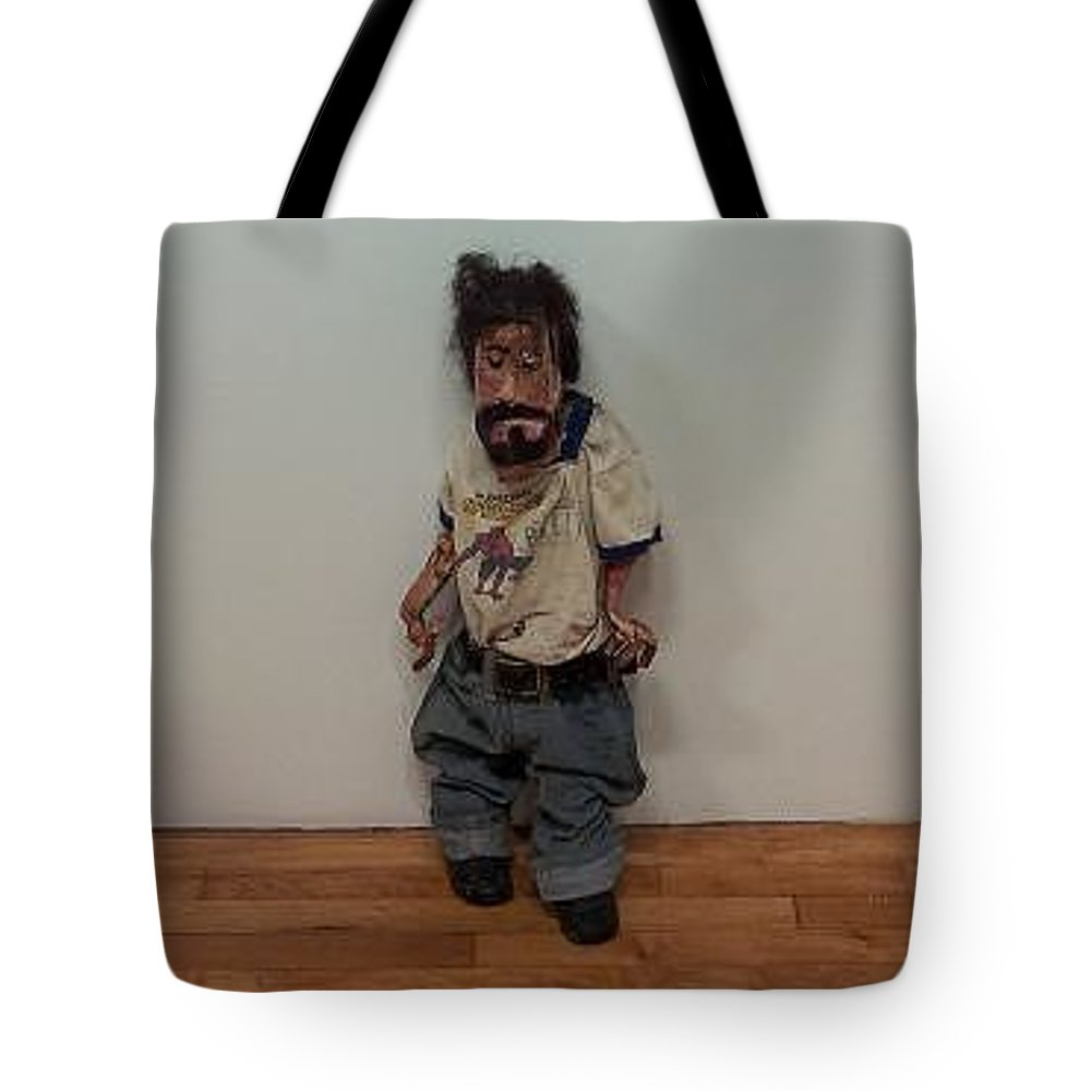 Avatar Graphical Representation Of User User's Alter Ego Or Character.three-dimensional Form Tote Bag featuring the sculpture Billy by William Douglas
