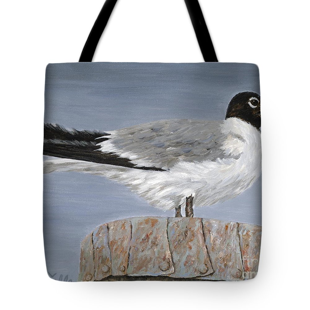 Seagull Tote Bag featuring the painting Bimini Gull by Danielle Perry
