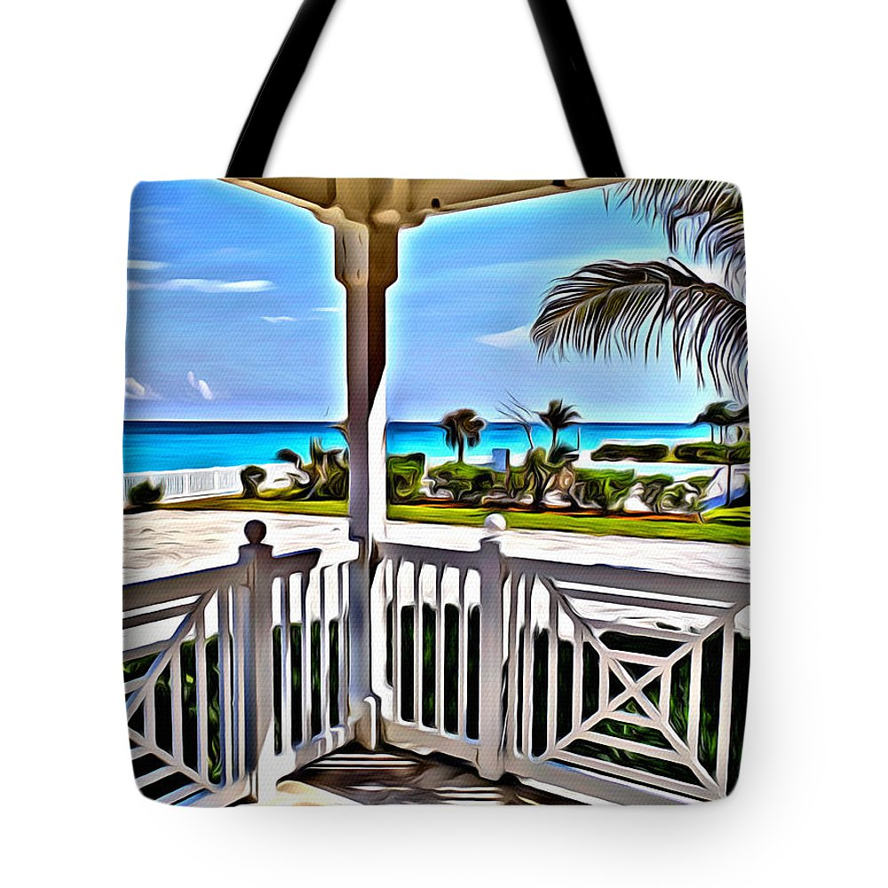 Bimini Tote Bag featuring the digital art Bimini View by Anthony C Chen