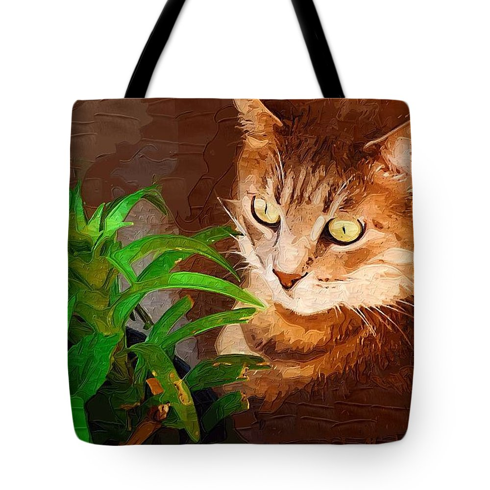 Cat Tote Bag featuring the photograph Bink by Donna Bentley