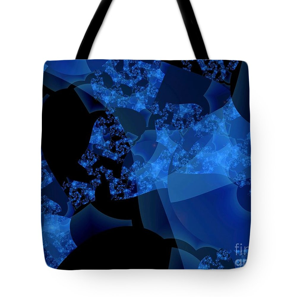 Fractal Art Tote Bag featuring the digital art Bioluminescence by Ron Bissett
