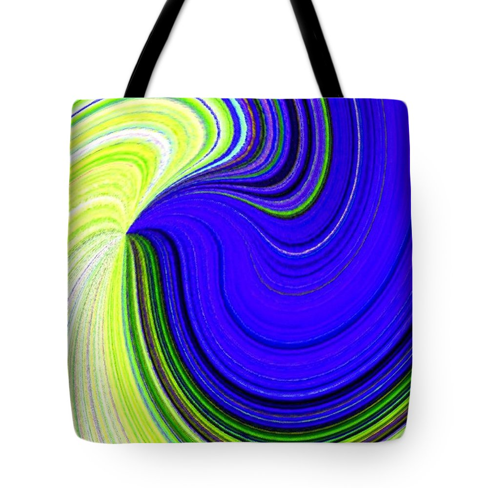 Abstract Tote Bag featuring the digital art Bionetwork Flow by Will Borden