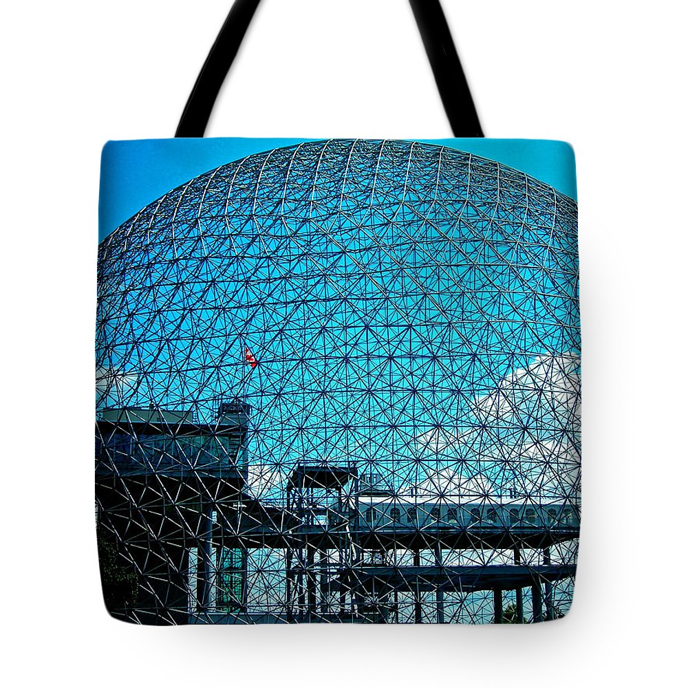 North America Tote Bag featuring the photograph Biosphere Montreal by Juergen Weiss