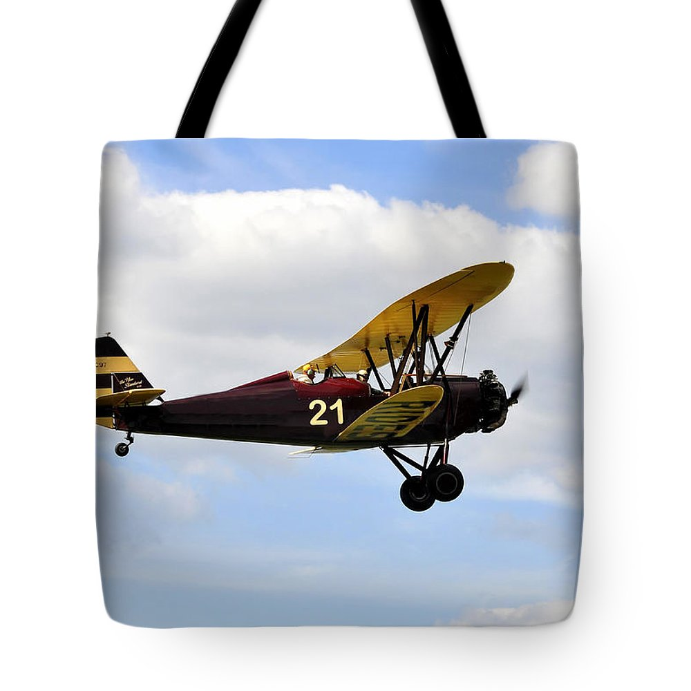Biplane Tote Bag featuring the photograph Biplane by David Lee Thompson