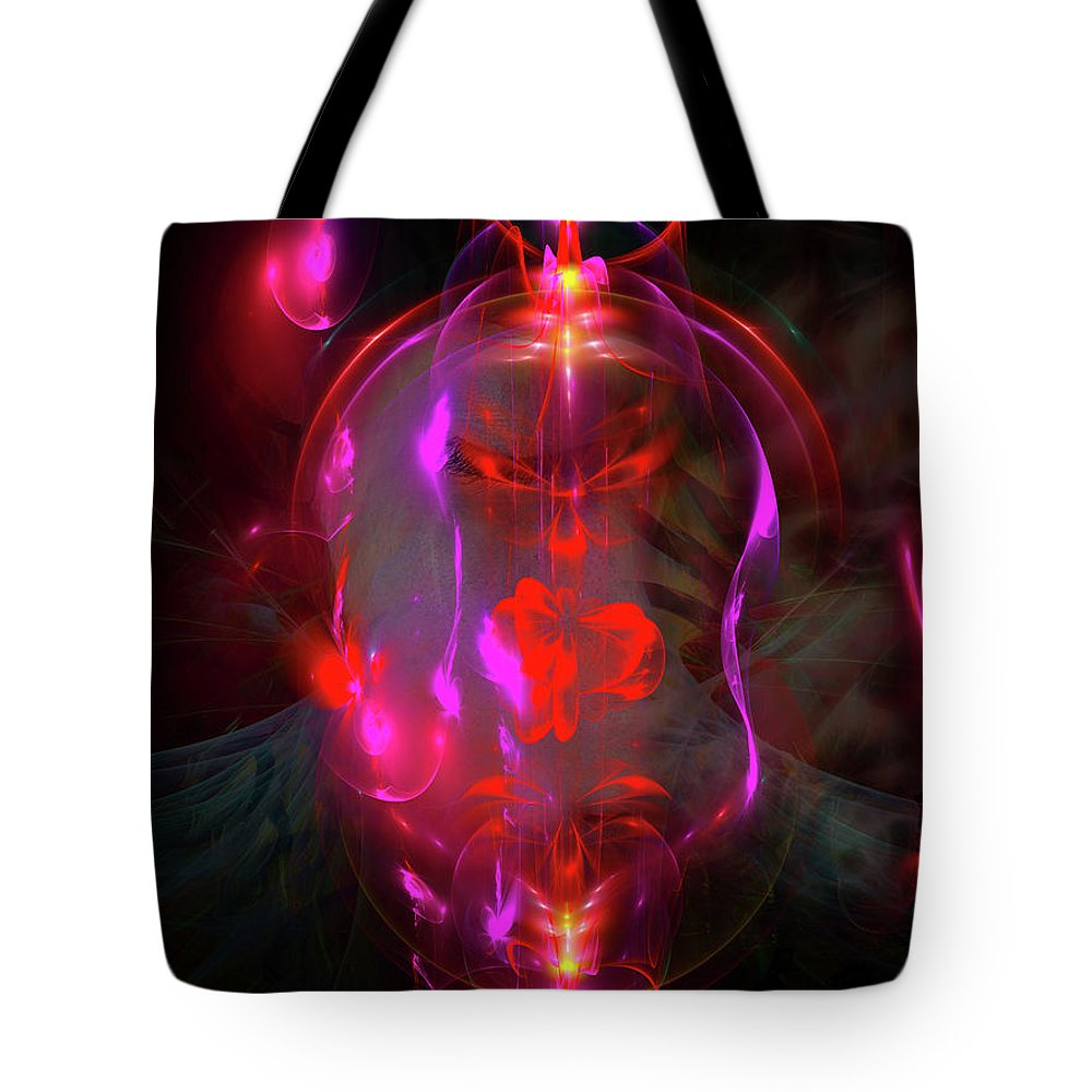 Art Tote Bag featuring the digital art Bipolar Complexities by Darrell Fifield