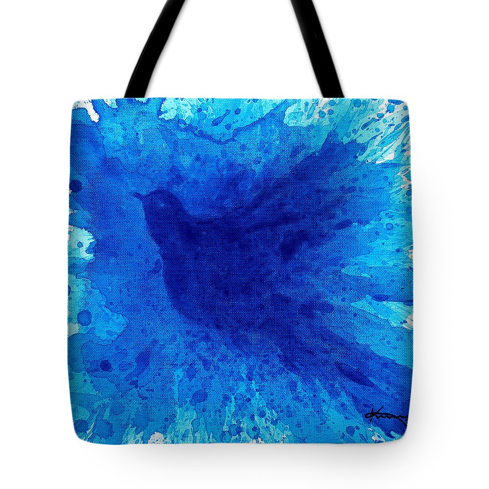 Bath Tote Bag featuring the painting Bird Bath 2 by Kume Bryant