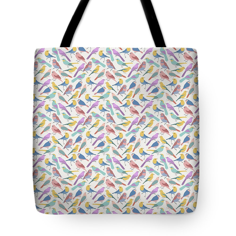 Tote Bag featuring the digital art Bird Example by Paul Corcoran