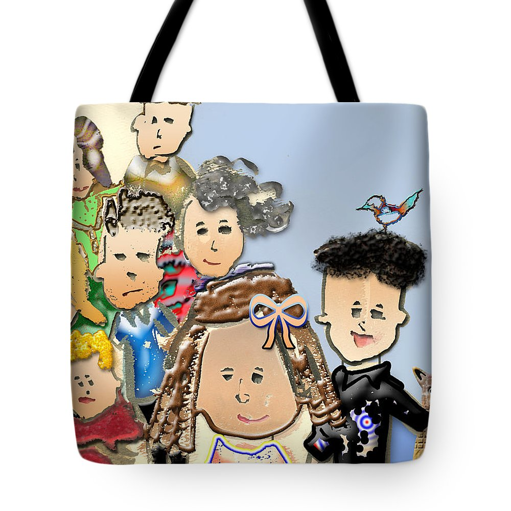 Kids Tote Bag featuring the digital art Bird Looking For A Nest by Arline Wagner