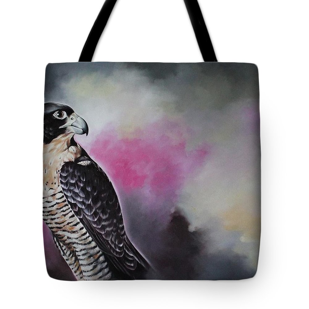Bird Tote Bag featuring the painting Bird N.11 by Rebecca Tecla