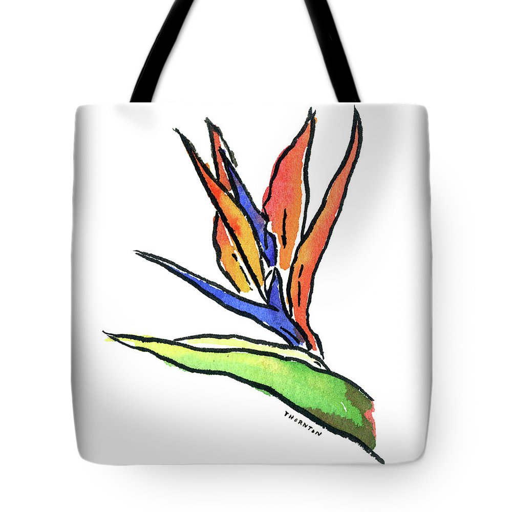 Bird Of Paradise Tote Bag featuring the painting Bird Of Paradise by Diane Thornton