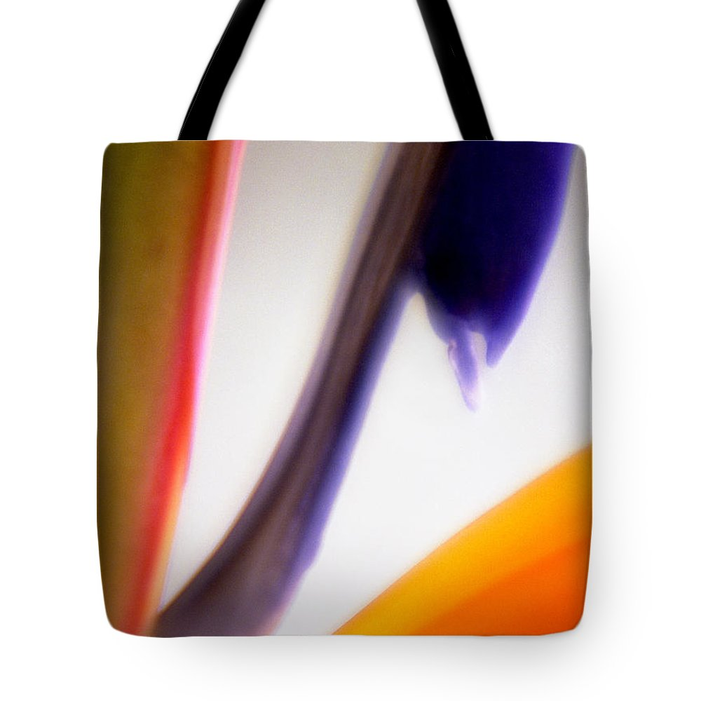 Macro Tote Bag featuring the photograph Bird Of Paradise by Lee Santa
