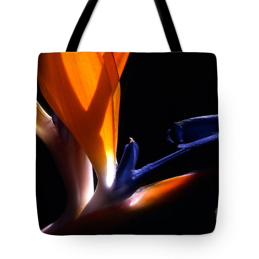 Floral Tote Bag featuring the photograph Bird Of Paradise by Norman Andrus