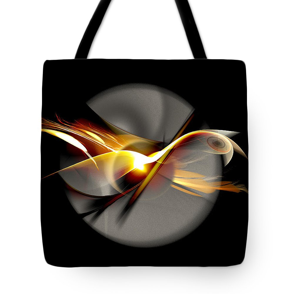 Bird Tote Bag featuring the digital art Bird Of Passage by Aniko Hencz