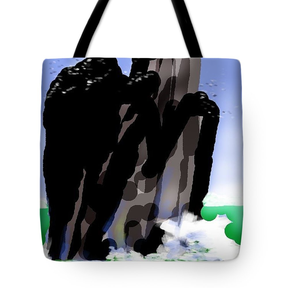 Seascape Tote Bag featuring the painting Bird Rock Off Marin Headlands by Paul Miller