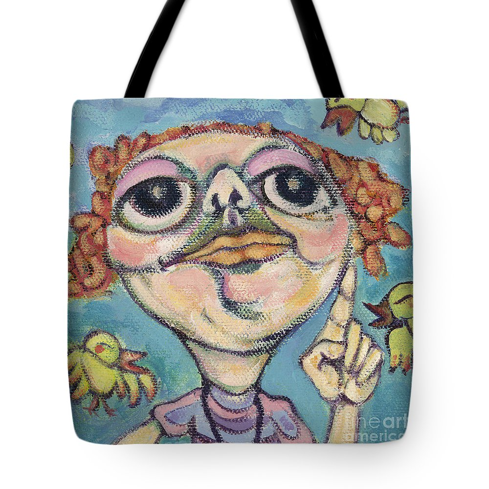 Bird Watcher Tote Bag featuring the painting Bird Watcher by Michelle Spiziri