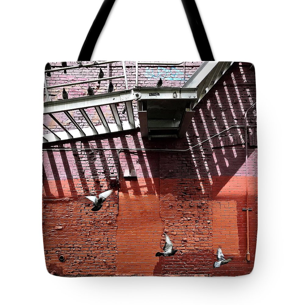Tote Bag featuring the photograph Birds In Flight by Julie Gebhardt