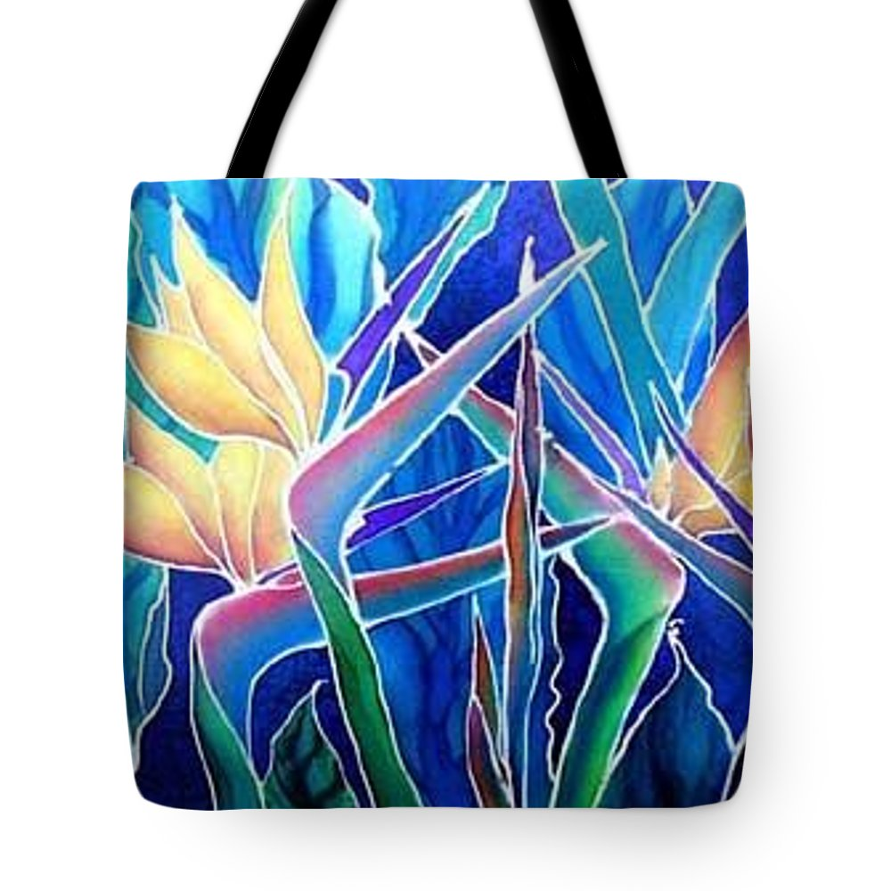 Silks Tote Bag featuring the painting Birds Of Paradise by Francine Dufour Jones