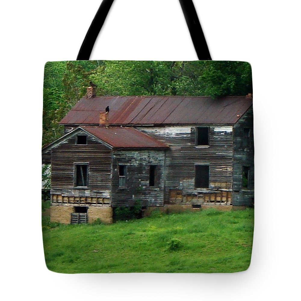 Oldhouse Tote Bag featuring the photograph Birds On Chimneys by J R  Seymour