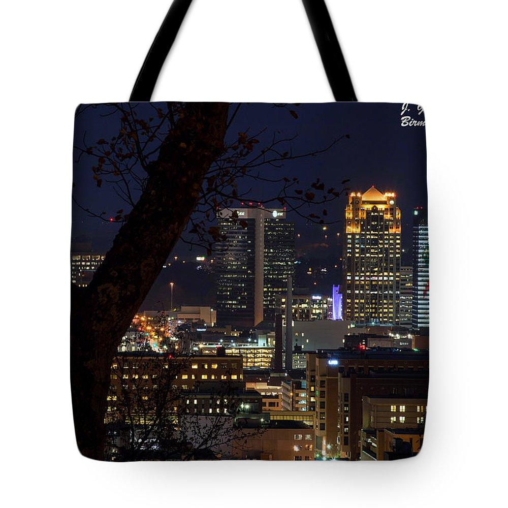 Downtown Birmingham Al Tote Bag featuring the photograph Birmingham Skies by Jeffery Gordon