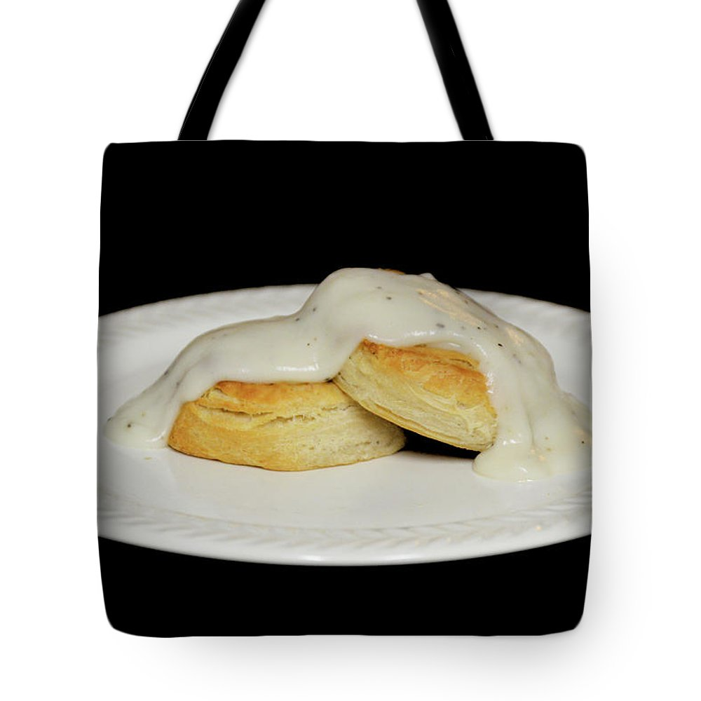 Food Tote Bag featuring the photograph Biscuits And Gravy by Trisha Martin Stricker
