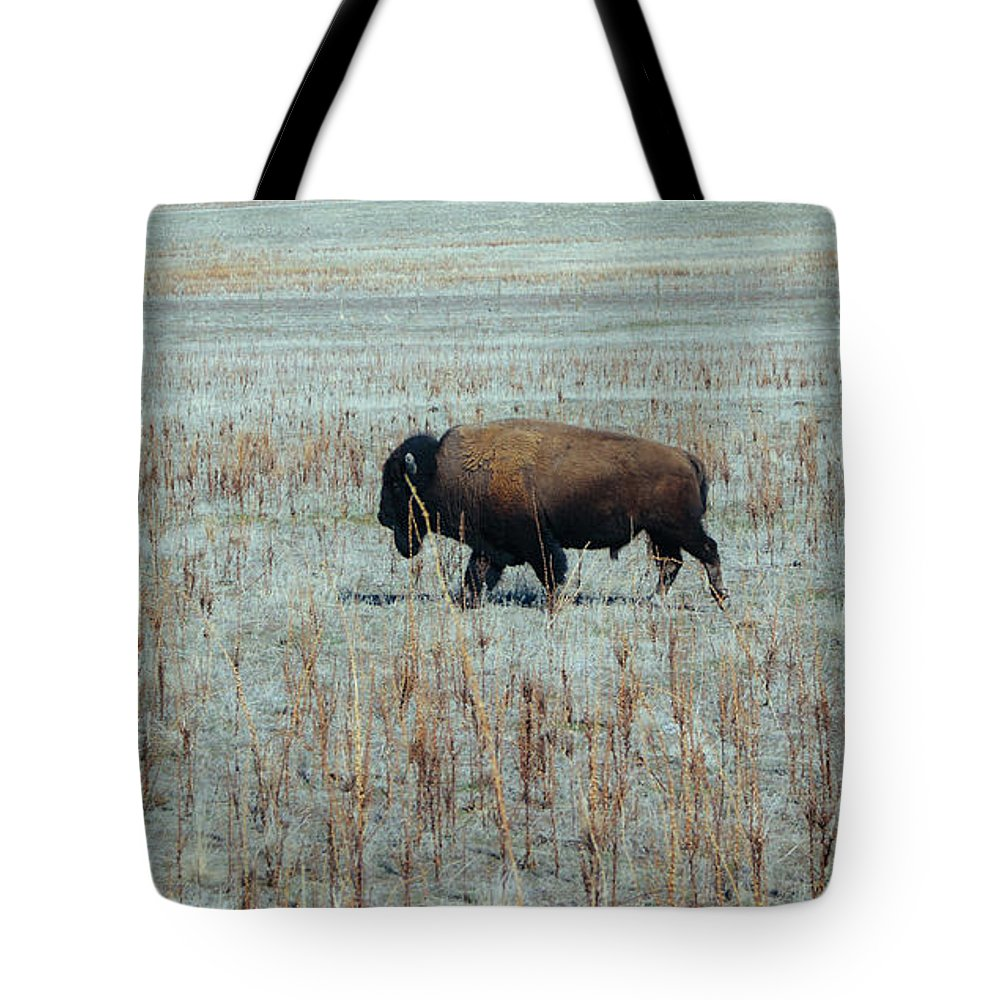 Bison Tote Bag featuring the photograph Bison by Happy Home Artistry