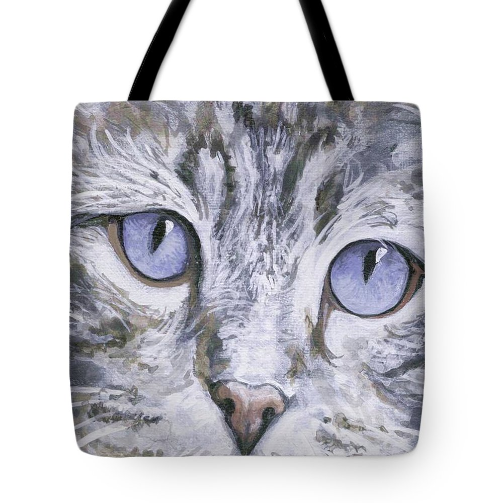 Charity Tote Bag featuring the painting Bisous by Mary-Lee Sanders