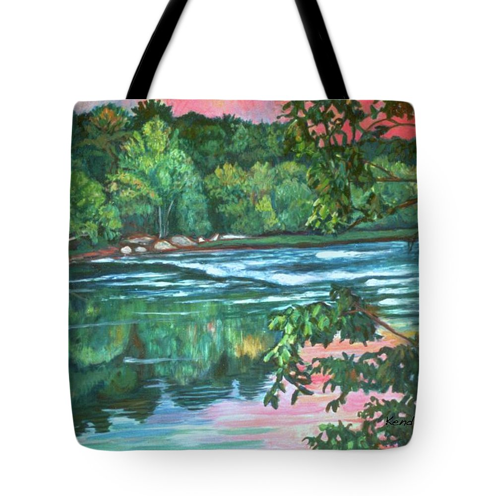 River Tote Bag featuring the painting Bisset Park Rapids by Kendall Kessler