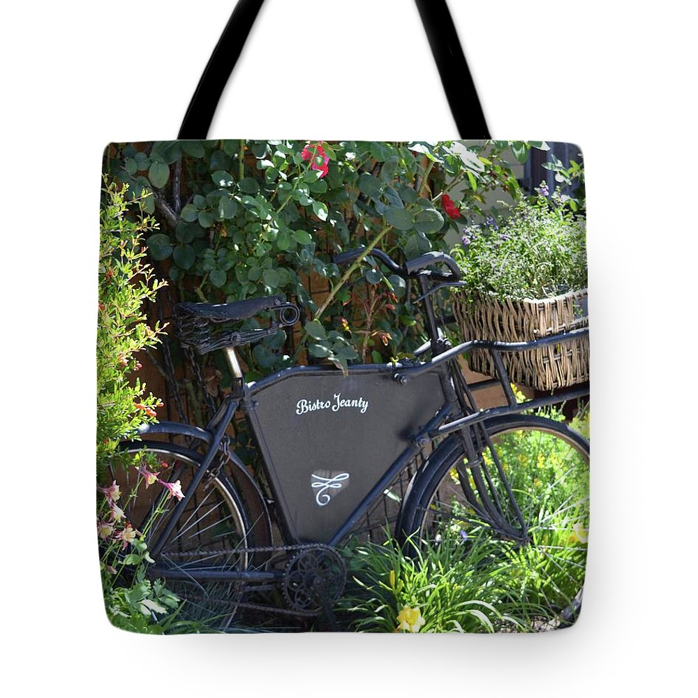 French Tote Bag featuring the photograph Bistro Jeanty by Laura Leigh McCall