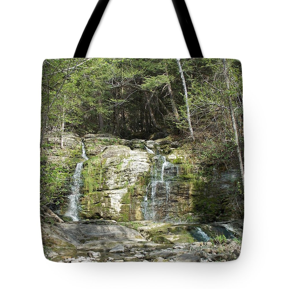 Bitterswet Falls Tote Bag featuring the photograph Bittersweet Falls by Catherine Gagne